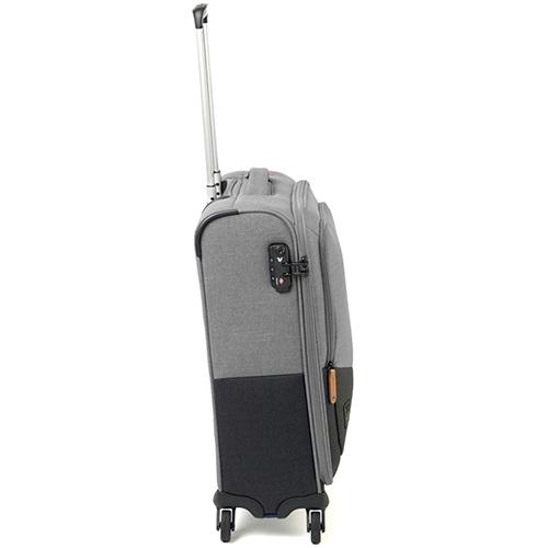 Серо-черный чемодан 55x40х20см Roncato Adventure размера ручной клади, фото