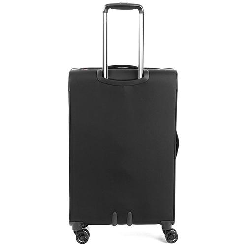 Среднего размера черный чемодан 68x43x26,5-30,5см Roncato Zero Gravity с кодовой блокировкой TSA, фото