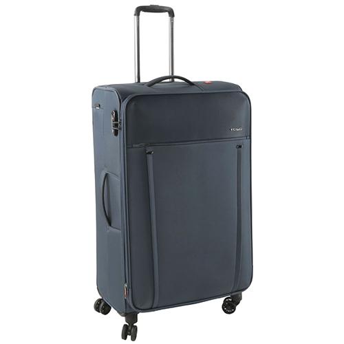 Синий чемодан 68x43x26,5-30,5см Roncato Zero Gravity среднего размера с функцией расширения, фото