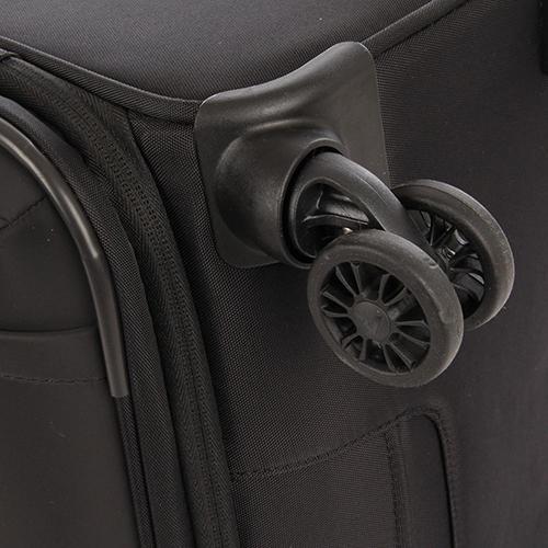 Большой черный чемодан 78х48х29-32см Roncato Zero Gravity Deluxe с кодовой блокировкой TSA, фото