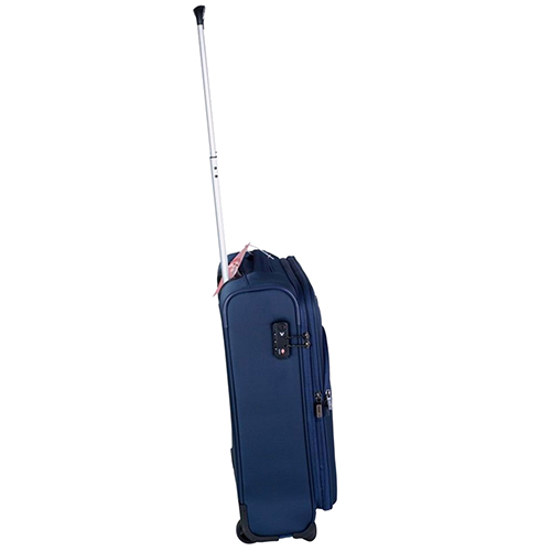 Маленький синий чемодан 55х40х20-23см Roncato Tribe с функцией расширения, фото