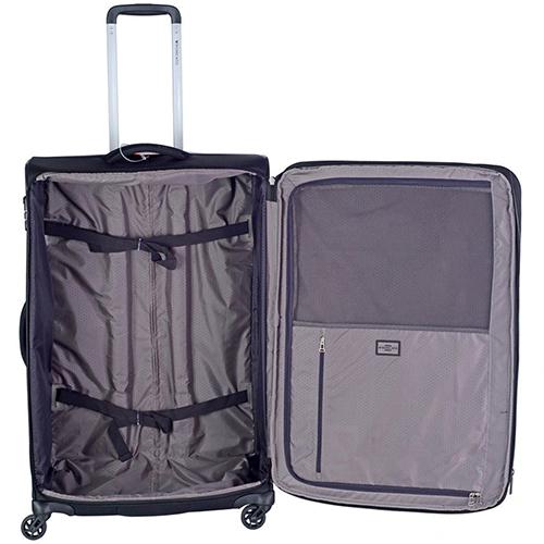Большой чемодан черного цвета 78х50х33-37см Roncato Tribe с замком TSA, фото