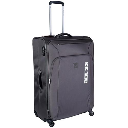 Дорожный коричневый чемодан 78х50х33-37см Roncato Tribe большого размера, фото