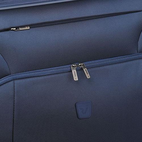 Синий чемодан 63x44x27-31см Roncato Tribe среднего размера с замком блокировки TSA, фото