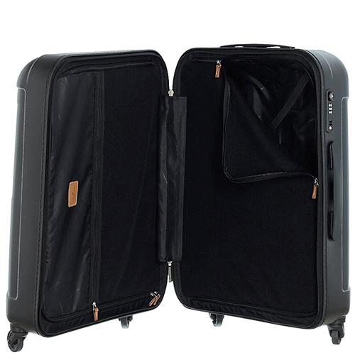 Серый чемодан 77х54х30см March Cosmopolitan большого размера с 4х колесной системой, фото