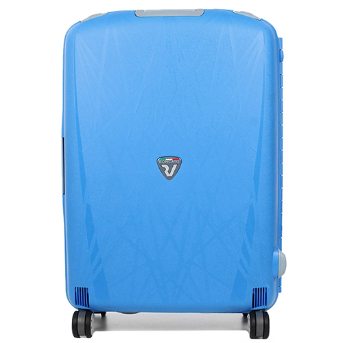 Чемодан голубого цвета 75х53х30см Roncato Light большого размера, фото