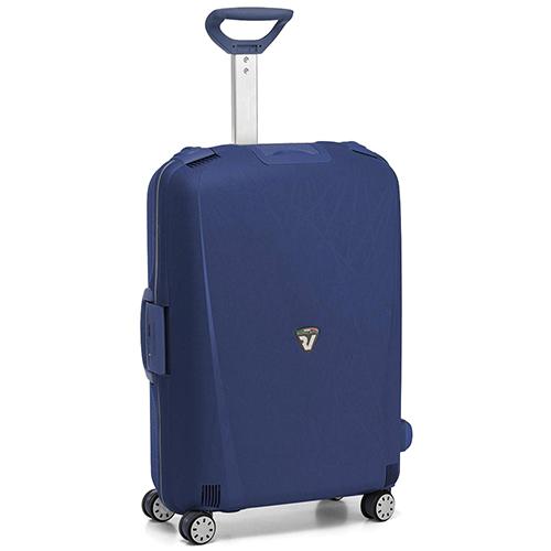 Среднего размера синий чемодан 68x48x27см Roncato Light с 4х колесной системой, фото