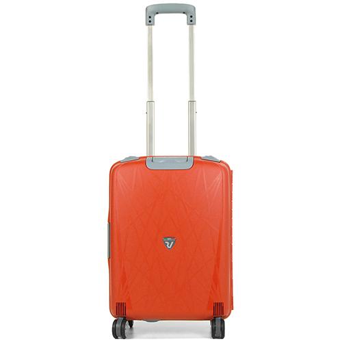 Оранжевый маленький чемодан 55х40х20см Roncato Light с 4х колесной системой, фото