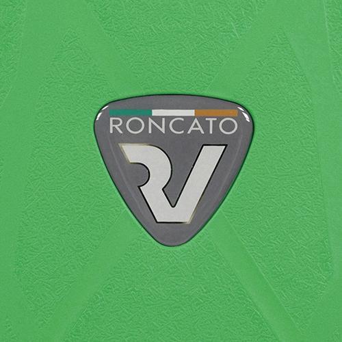Маленький зеленый чемодан 55х40х20см Roncato Light с корпусом из полипропилена, фото