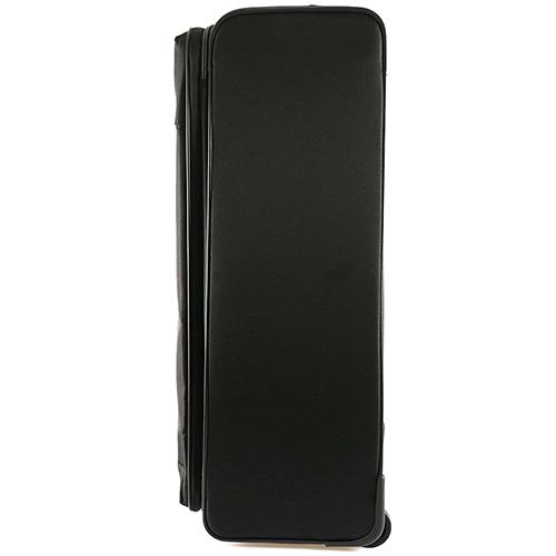 Черный чемодан среднего размера 67x44x27-31см Roncato Ironik на 2х колесах, фото