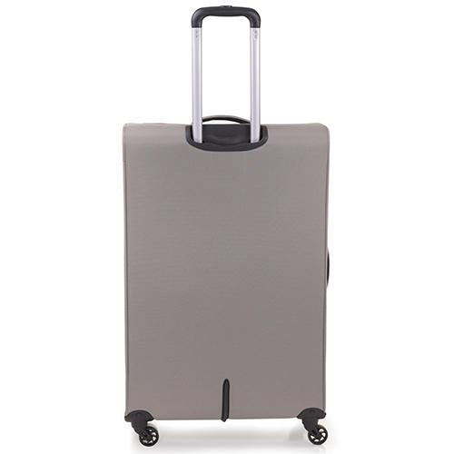 Большой чемодан 78х48х29-32см Roncato Ironik бежевого цвета для путешествий, фото