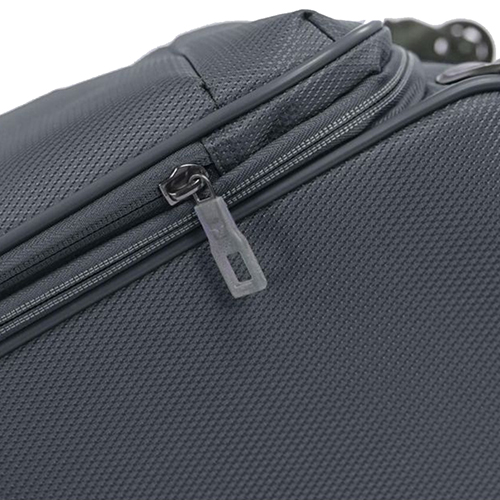Маленький чемодан серого цвета 55х40х20-23см Roncato Ironik закрывается на молнию, фото