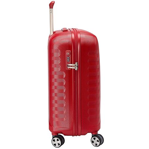 Маленький красный чемодан 55х40х25см Roncato Uno ZSL Premium с корпусом из поликарбоната, фото