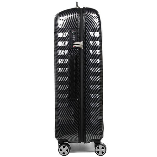 Чемодан серого цвета 71x46x24см Roncato Uno Zip Deluxe Limited Edition среднего размера, фото