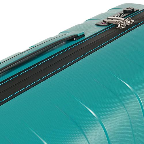 Чемоданы бирюзового цвета Roncato Box с 4х колесной системой, фото