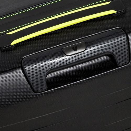 Большой черный чемодан 78х50х30см Roncato Box на молнии с 4х колесной системой, фото
