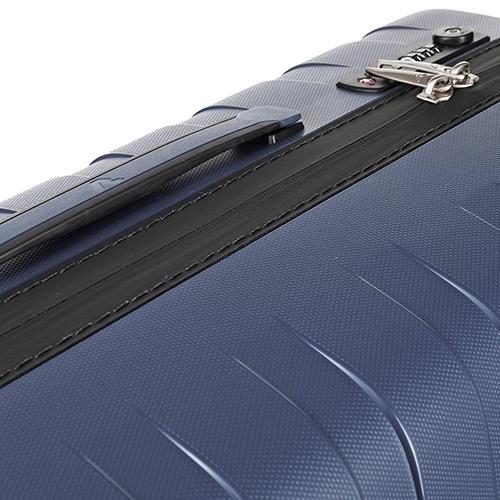 Синий чемодан для путешествий 69x46x26см Roncato Box среднего размера, фото