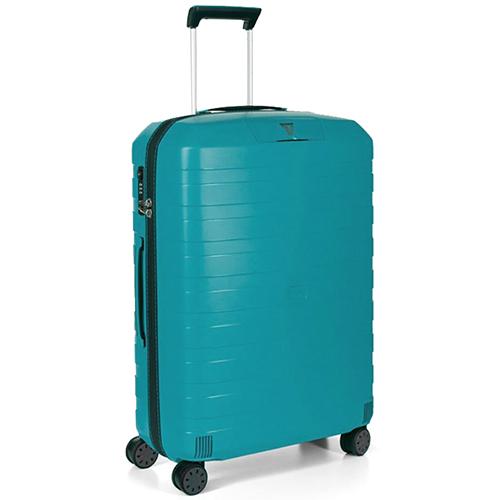 Синий среднего размера чемодан 69x46x26см Roncato Box с корпусом из полипропилена, фото