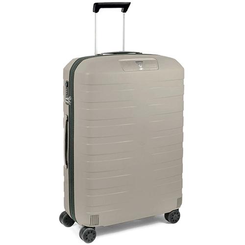 Набор чемоданов бежевого цвета Roncato Box на 4х колесах, фото