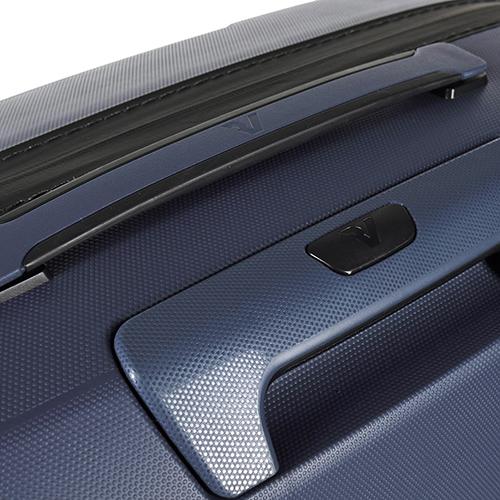 Набор чемоданов синего цвета Roncato Box с 4х колесной системой, фото