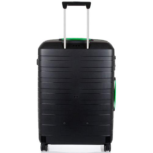 Черные чемоданы Roncato Box с выдвижной телескопической ручкой, фото