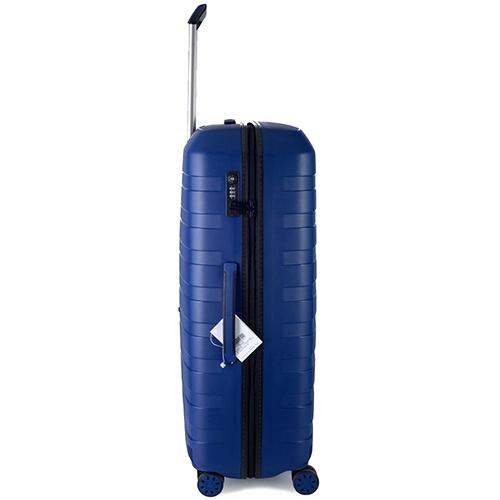 Чемодан синего цвета 78х50х30см Roncato Box 2.0 с кодовым замком TSA, фото