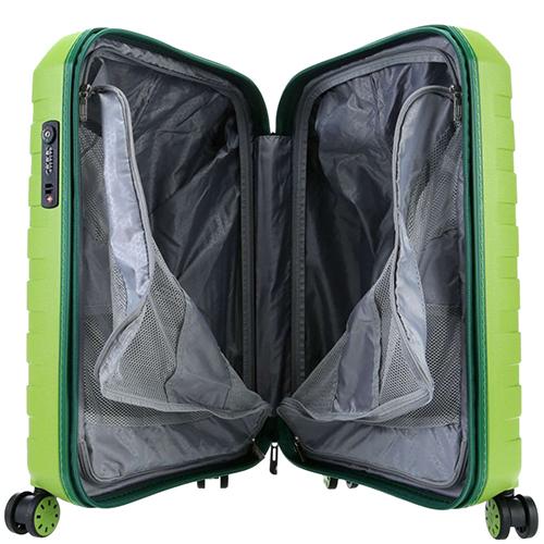 Маленький салатовый чемодан 55х40х20см Roncato Box 2.0 с выдвижной ручкой, фото