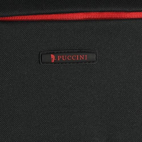 Маленький черный чемодан 52х36х20см Puccini Camerino с 2х колесной системой, фото