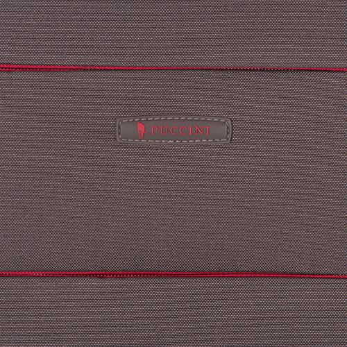 Чемодан серого цвета 52х36х20см Puccini Camerino размера ручной клади, фото