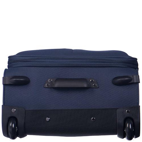 Синий среднего размера чемодан 63x41x27-32см Puccini Latina с 2х колесной системой, фото