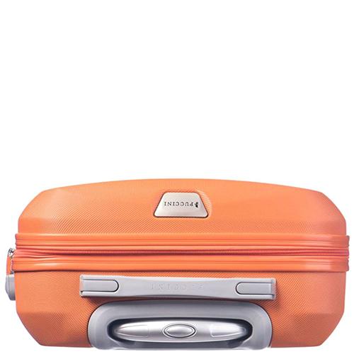 Маленький чемодан 55х40х20см Puccini Paris оранжевого цвета с телескопической ручкой, фото