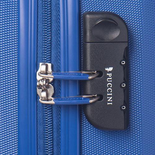 Среднего размера синий чемодан Puccini Paris на молнии, фото