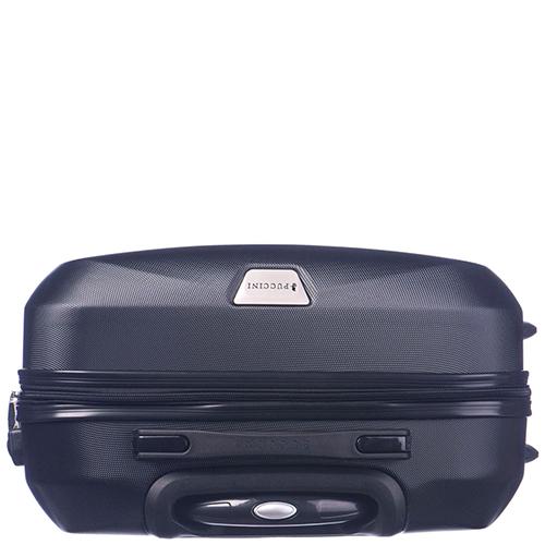 Большой черный чемодан 76,5х53х29см Puccini Paris с телескопической ручкой, фото