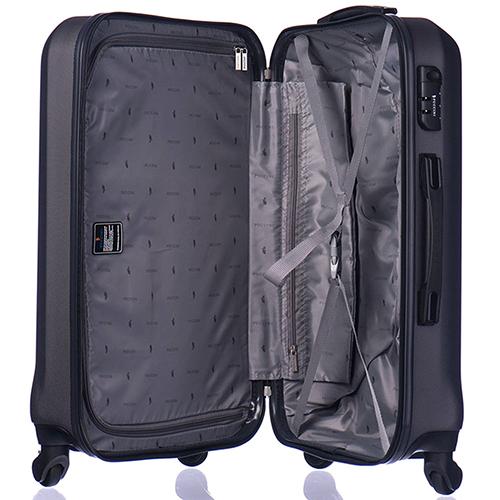 Черный чемодан большого размера 76,5х53х29см Puccini Paris с кодовым замком, фото