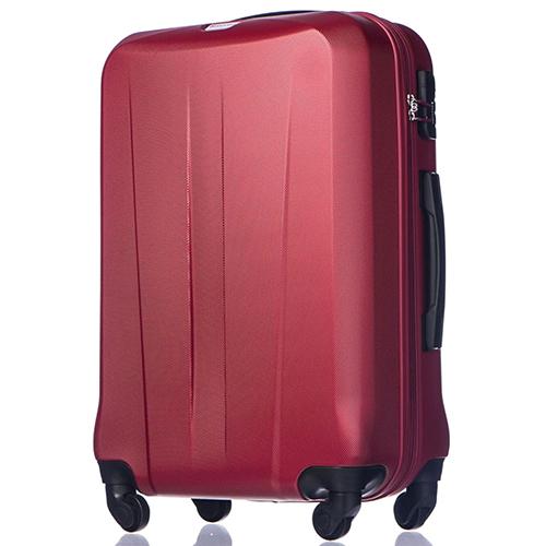 Набор чемоданов Puccini Paris красного цвета с 4х колесной системой, фото