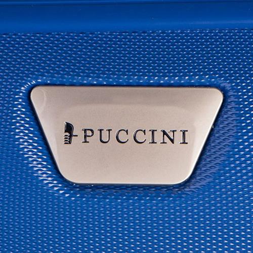 Набор синих чемоданов Puccini Paris с корпусом из пластика, фото