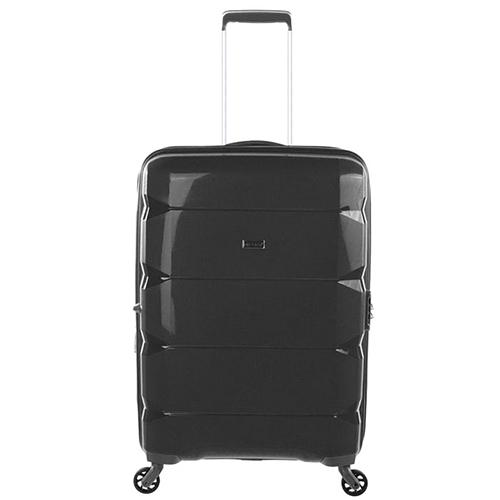 Средний черный чемодан 64x46x26см Puccini PP007 с корпусом из полипропилена, фото
