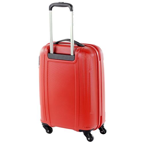 Чемодан маленького размера 55х39х20см Puccini PC015 в красном цвете, фото