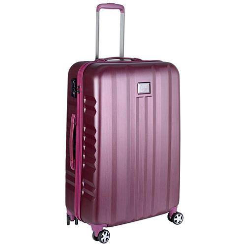 Большой чемодан розового цвета 75х30х47см March Fly с замком блокировки TSA, фото