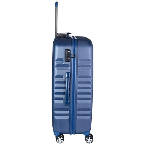 Синий чемодан большого размера 75х30х47см March Fly с телескопической ручкой, фото