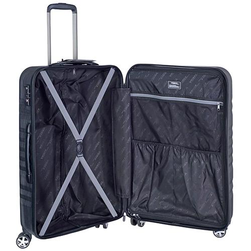 Среднего размера серый чемодан 65x26x40см March Fly на молнии, фото