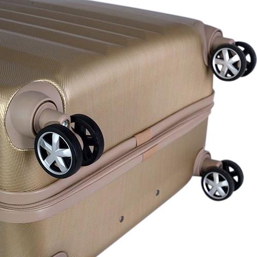 Маленький чемодан 55х35х20см March Fly золотого цвета с телескопической ручкой, фото