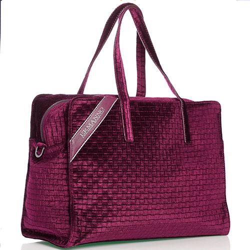 Дорожная сумка Ermanno Scervino Daria с эффектом плетения, фото