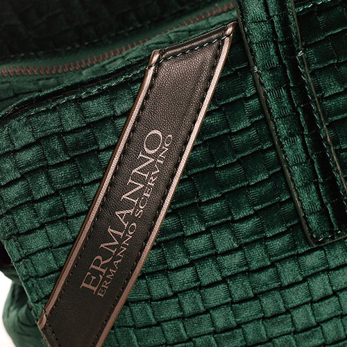 Дорожная вельветовая сумка Ermanno Ermanno Scervino Daria изумрудного цвета, фото