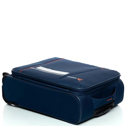 Темно-синий чемодан 55х40х20-23см Roncato Jazz с замком блокировки TSA, фото
