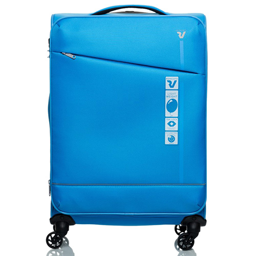 Средний чемодан 66х42х26см Roncato Jazz голубого цвета, фото