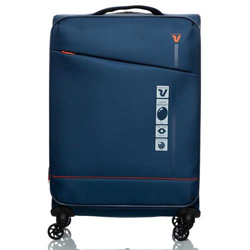 Темно-синий чемодан 66х42х26см Roncato Jazz с функцией расширения, фото