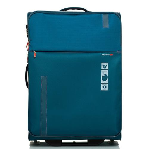 Большой дорожный чемодан 78х48х29-32см Roncato Speed синего цвета, фото