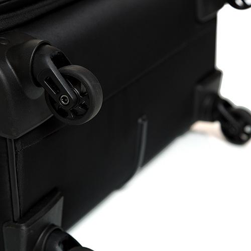 Большой дорожный чемодан 78х48х29-32см Roncato Speed черного цвета 4-х колесный, фото