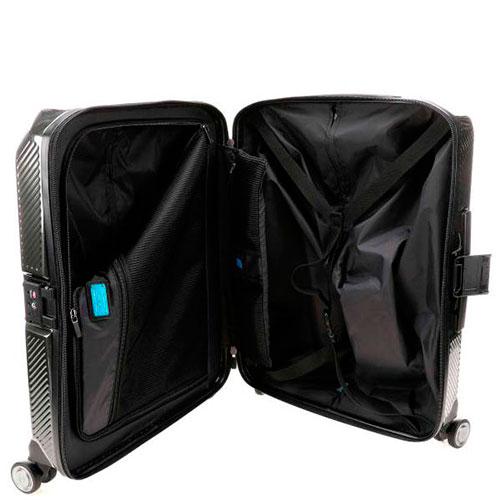 Дорожный чемодан Piquadro Cubica 55х40х20см черного цвета, фото